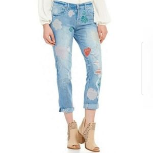 Jessica Simpson Mika Best Friend Cropped Jeans 31